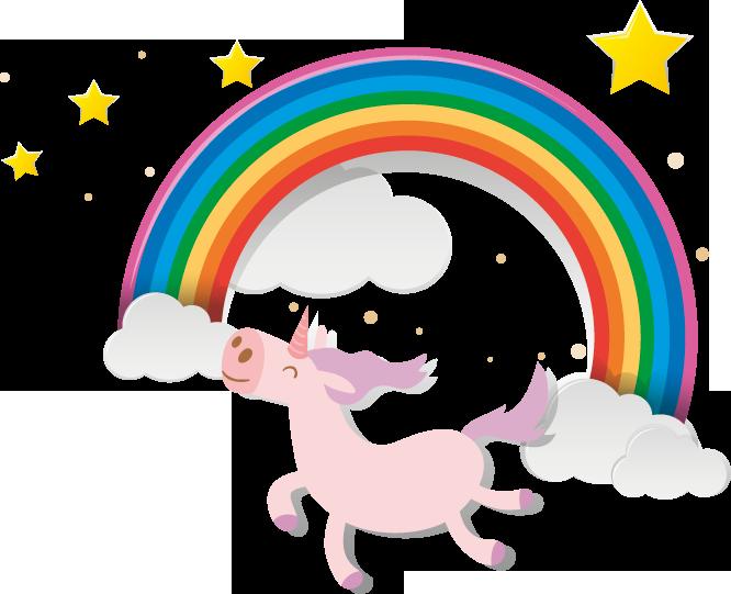 Fairy Bay unicorn and rainbow